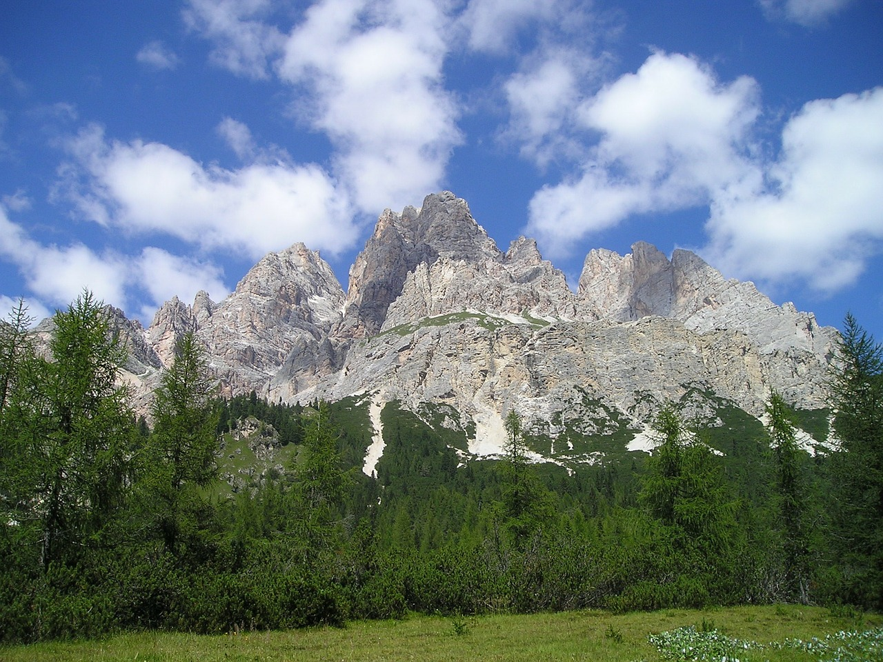 monte cristallo,cristallogruppe,crystal mountain,dolomites,mountains,alpine,south tyrol,italy,forest,summer,free pictures, free photos, free images, royalty free, free illustrations, public domain