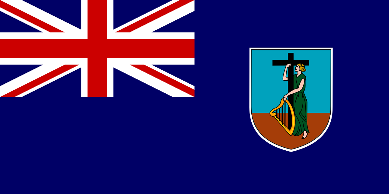 montserrat flag british overseas territory free photo