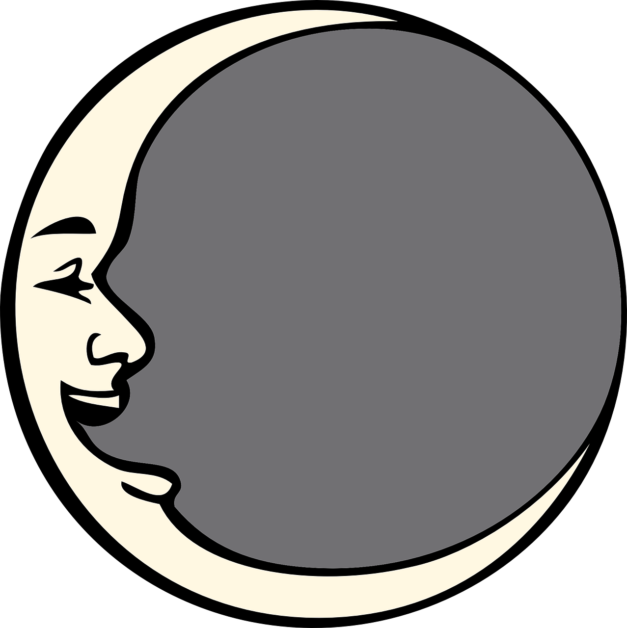 moon man face free photo