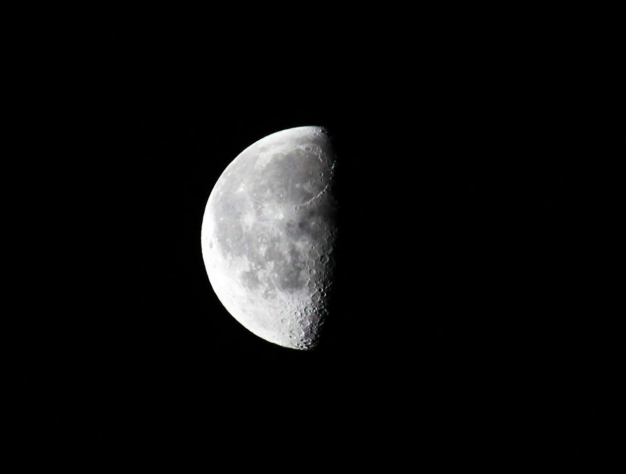 moon half moon night free picture
