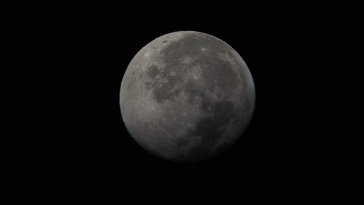 moon  night  space free photo