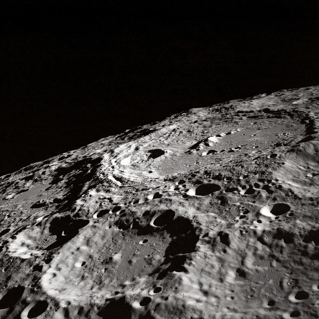 moon moon craters crater free photo