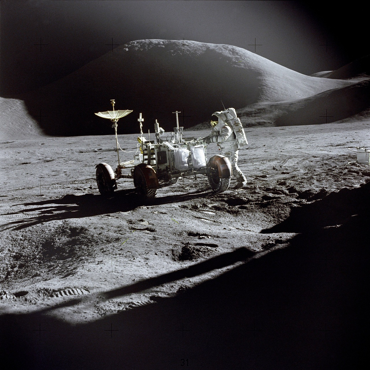 moon moon rover apollo 11 free photo
