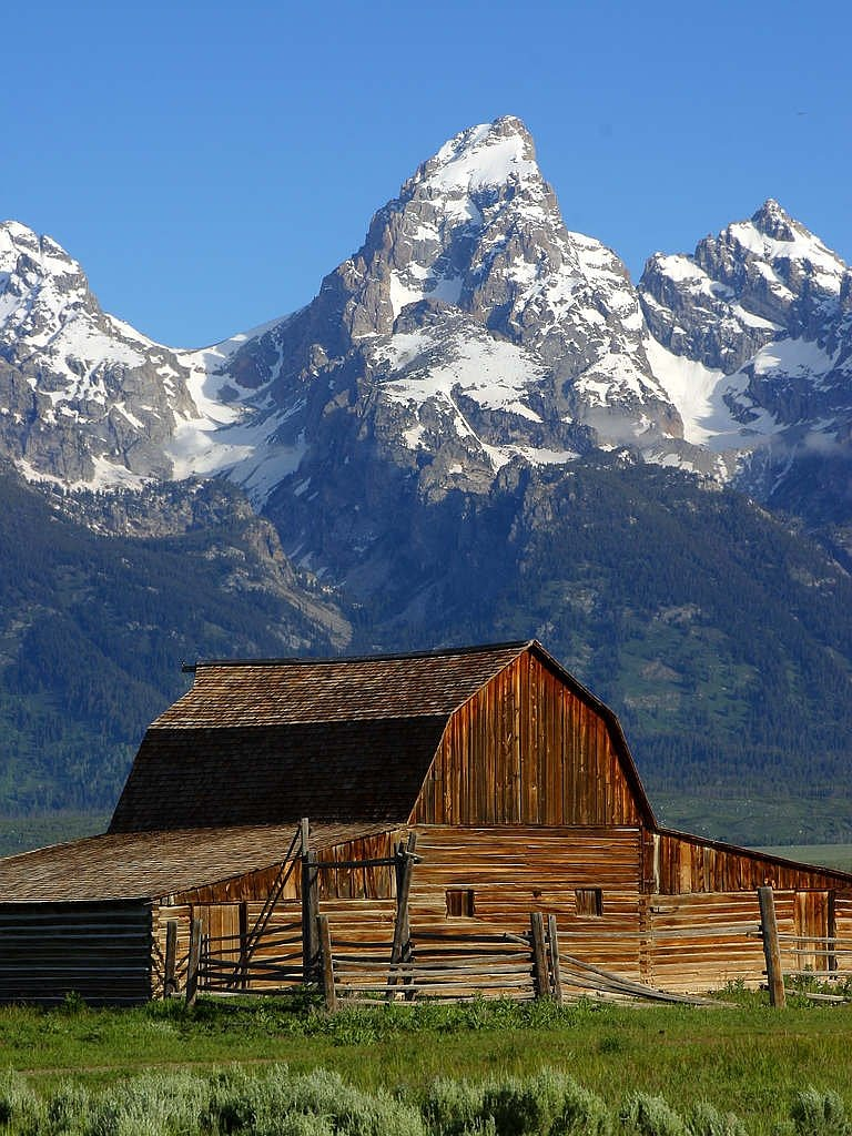 mormon row barn wyoming national park free photo