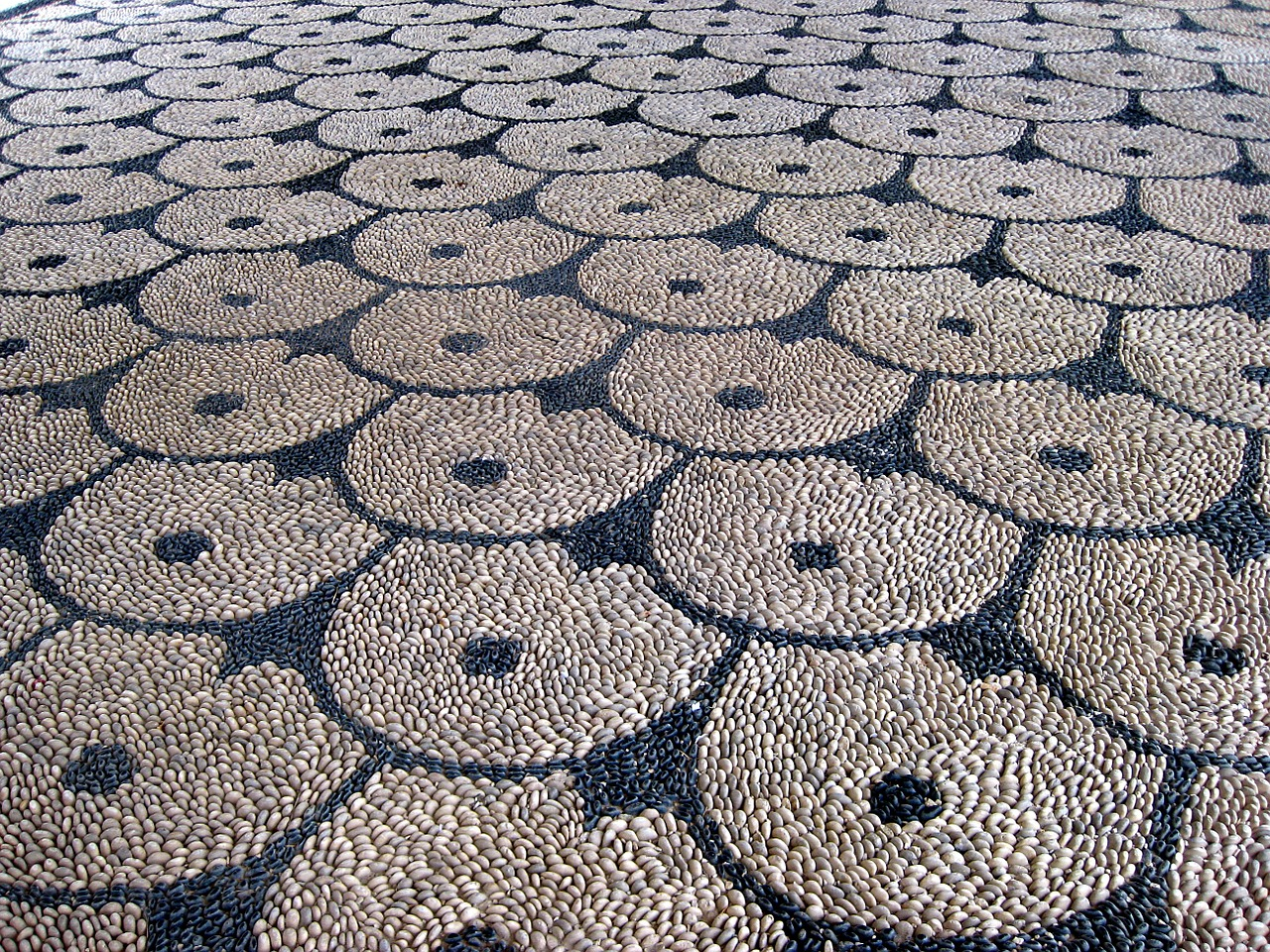 mosaic stones floor free photo