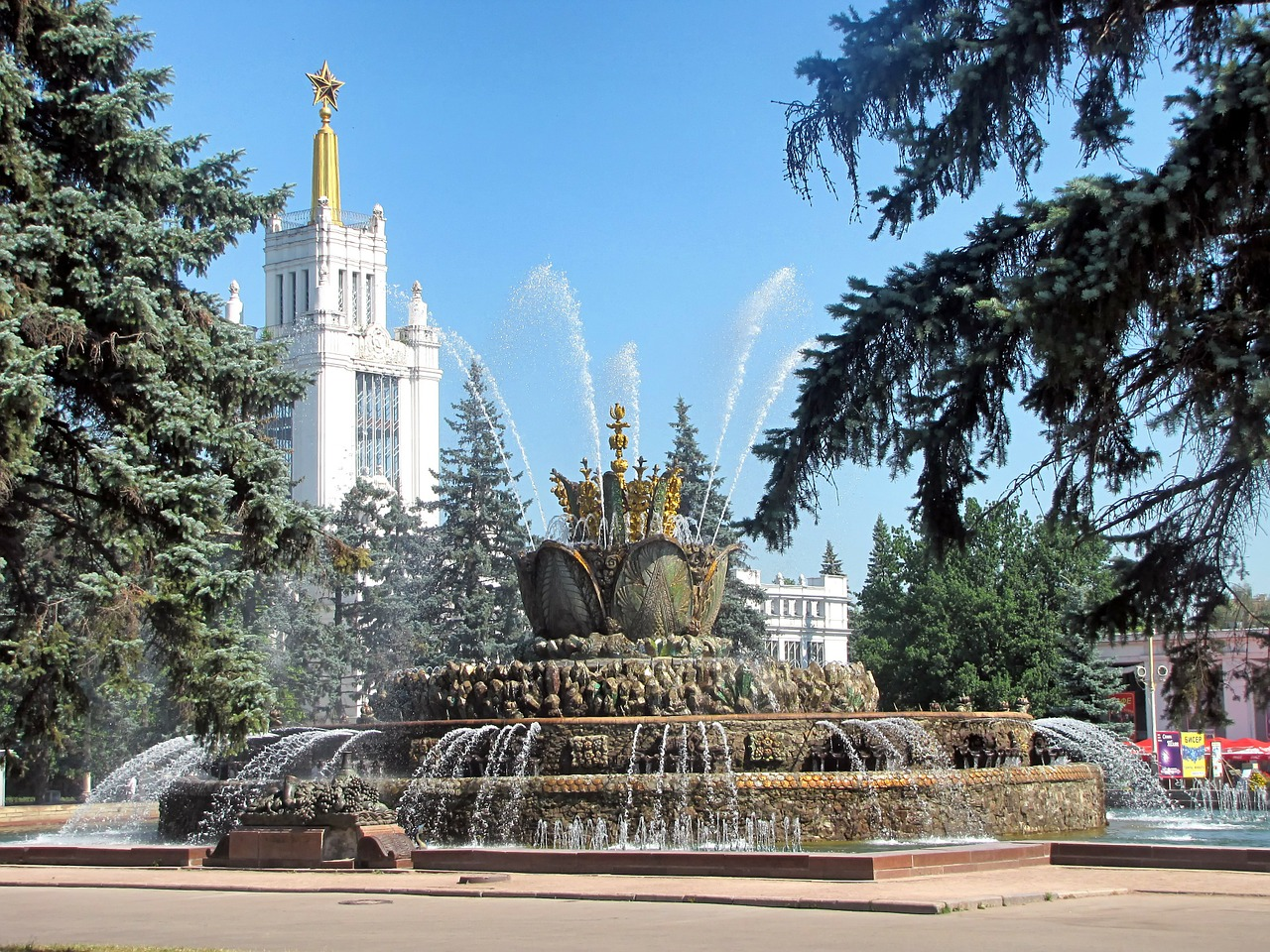moscow russia fountain free photo