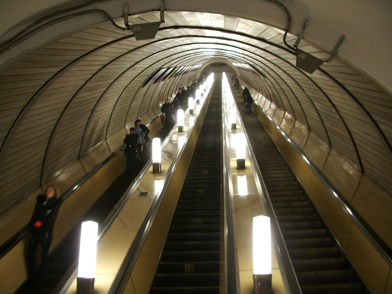 moscow russia escalator free photo