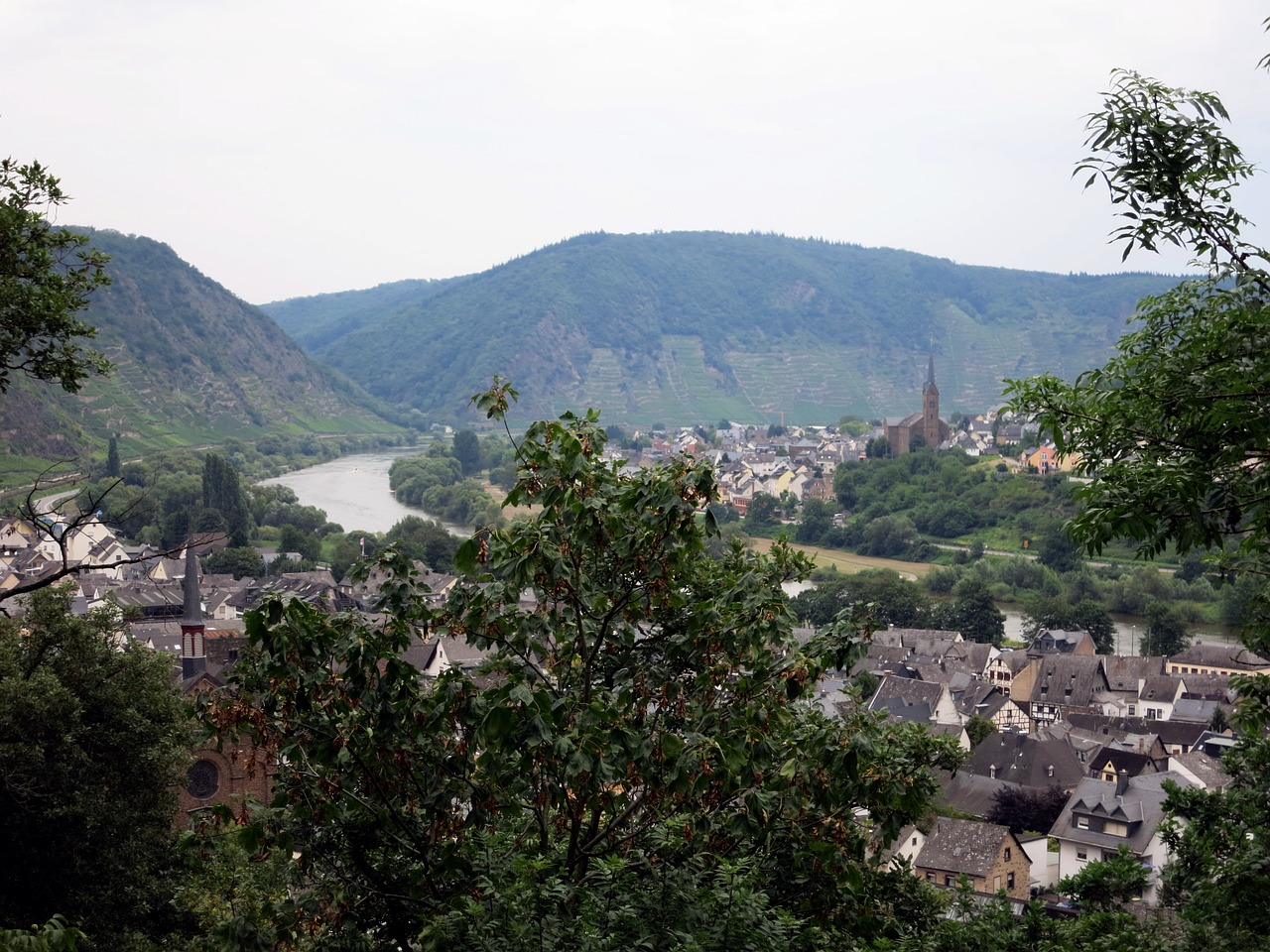 mosel outlook landscape free photo