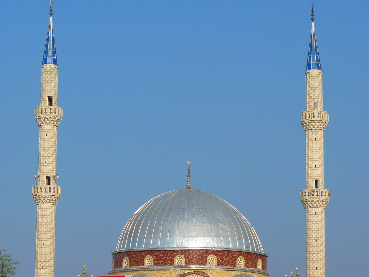 mosque dome minaret free photo