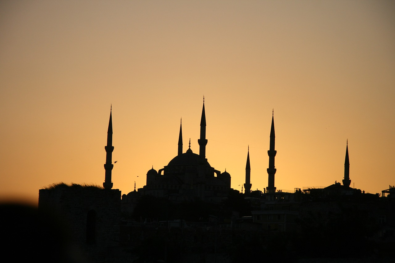 mosque blue mosque turkey free photo