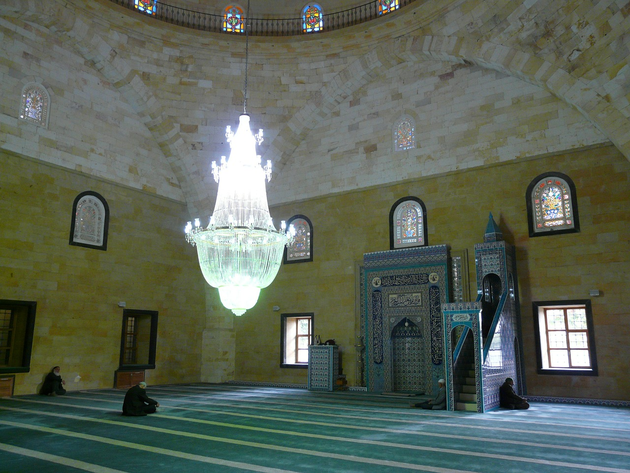 mosque prayer room prayer hall free photo