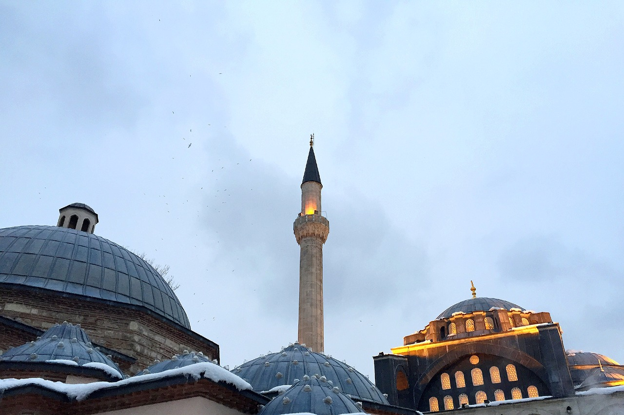 mosque tower istanbul minaret free photo