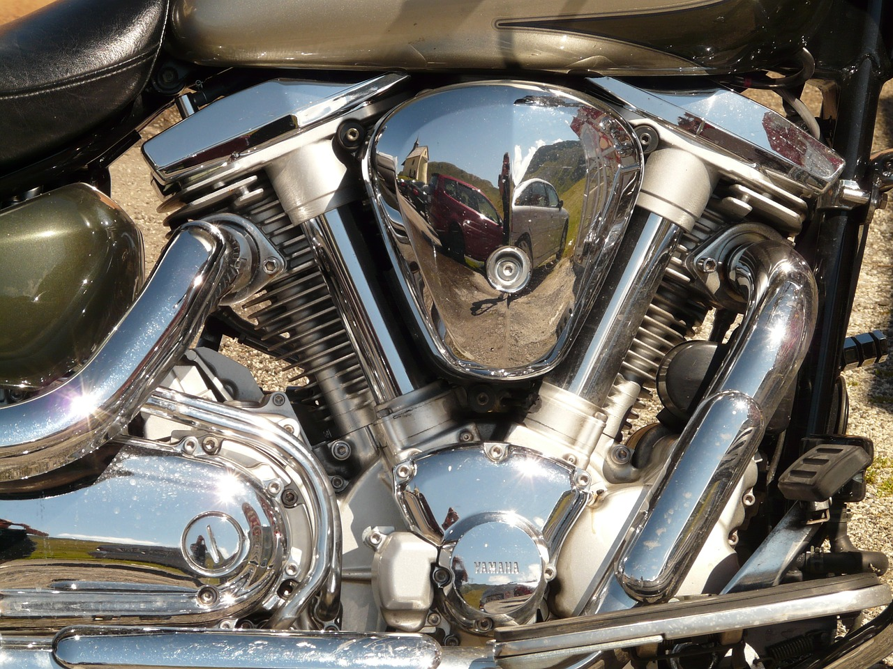 motorcycle exhaust chrome free photo
