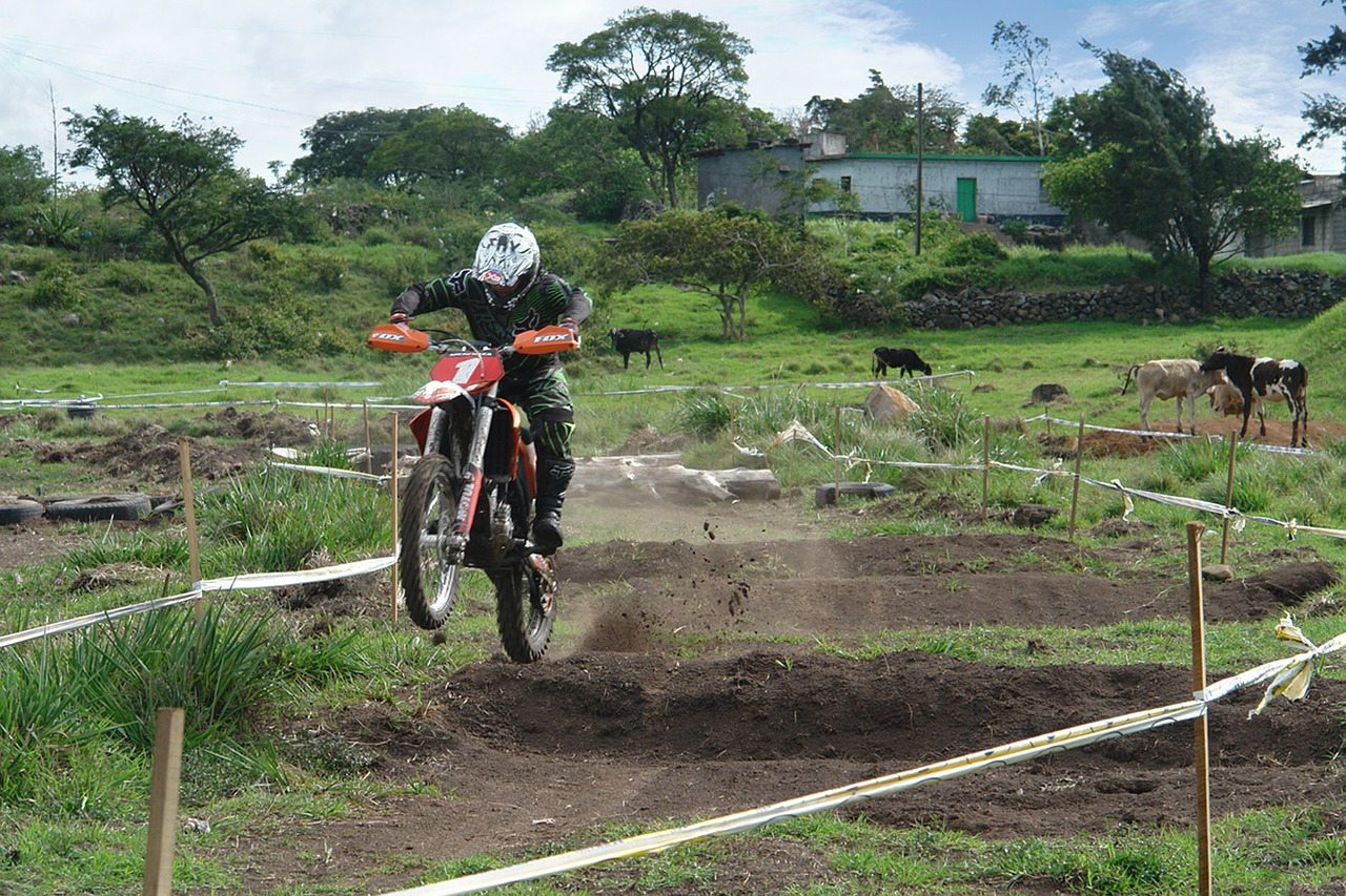 motorcyclist motocross track free photo