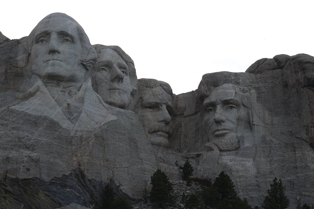 mount rushmore national monument presidential free photo