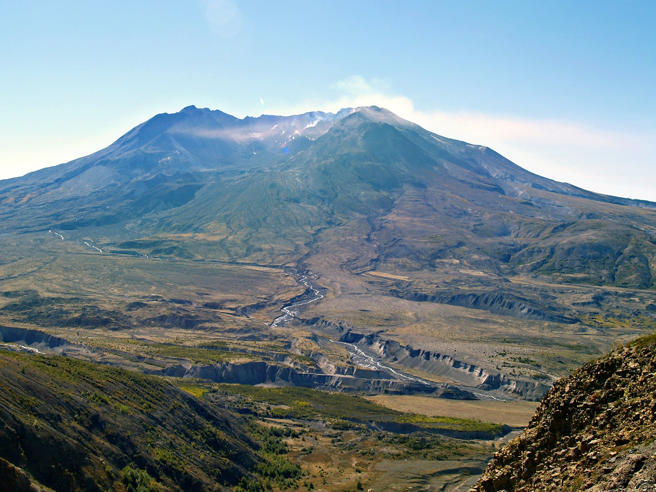 mount st helens volcano lava free photo