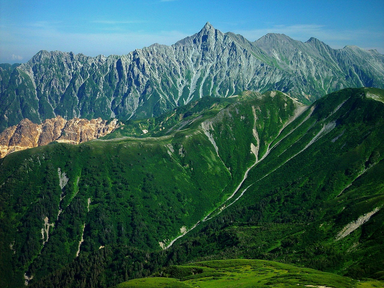 mount yari japan landscape free photo