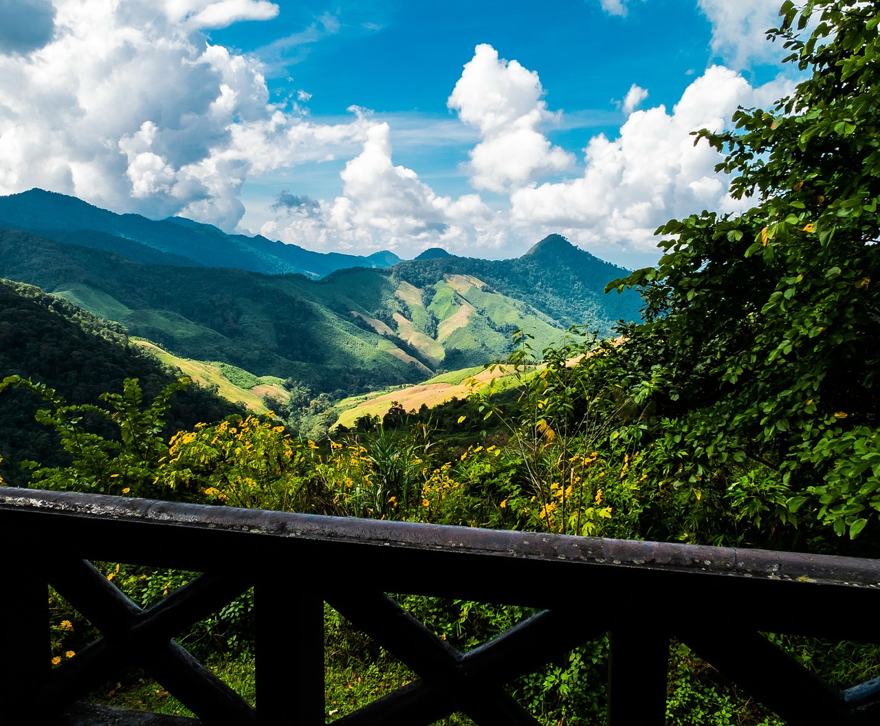 mountain landscape mountains north thailand free photo