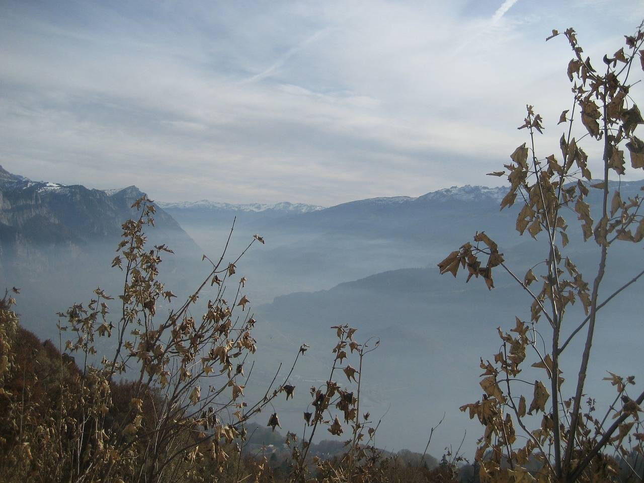 mountains fog autumn free photo