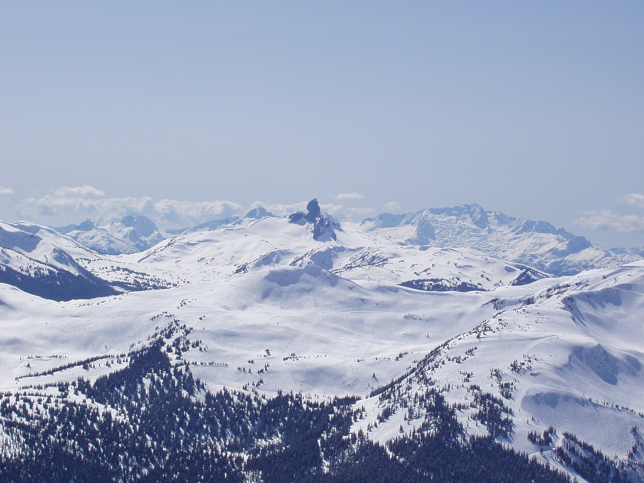 mountains whistler winter free photo
