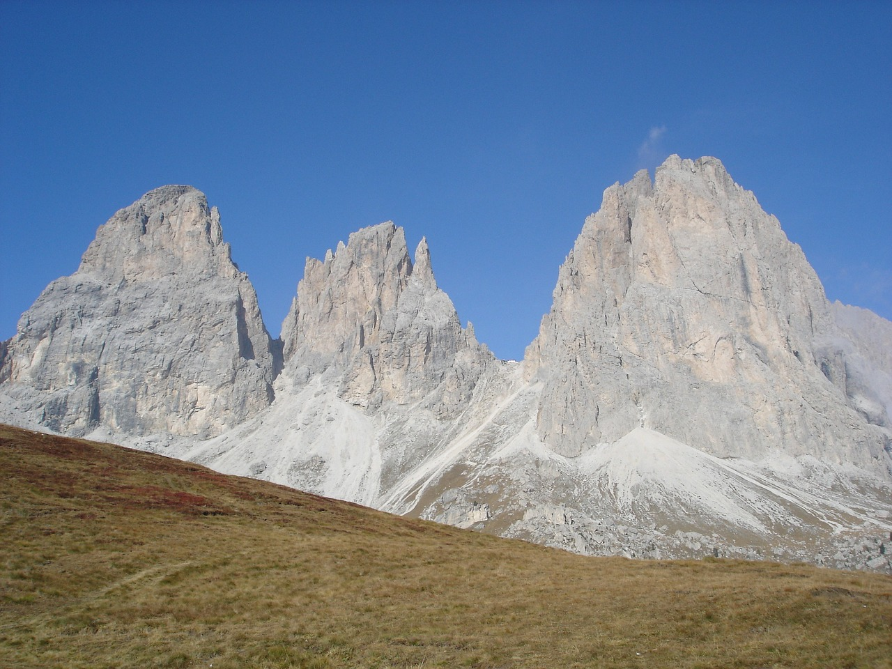 mountains dolomites hiking free photo