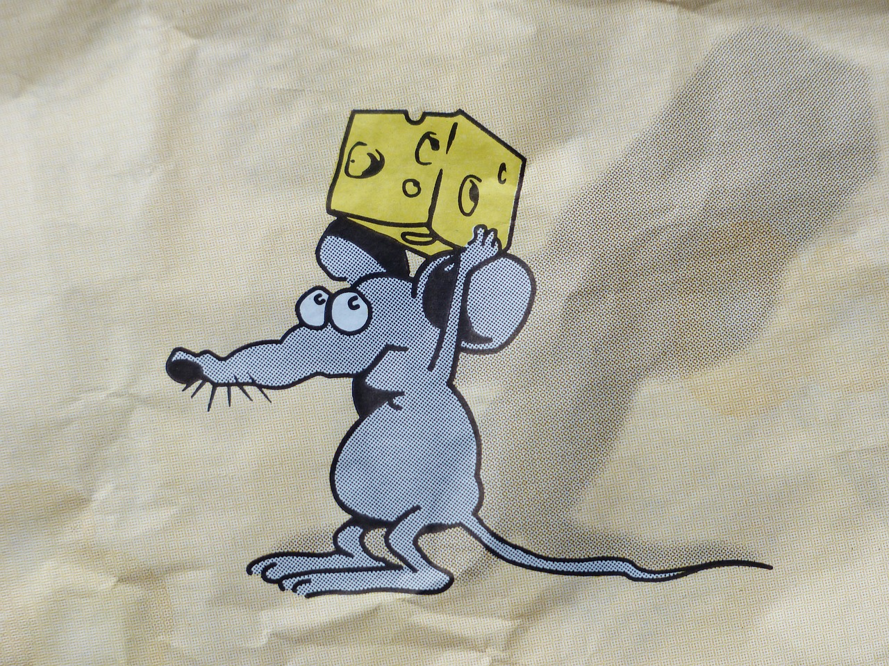 mouse,cheese,stolen,three cheese high,comic,funny,cheeky,free pictures, free photos, free images, royalty free, free illustrations, public domain