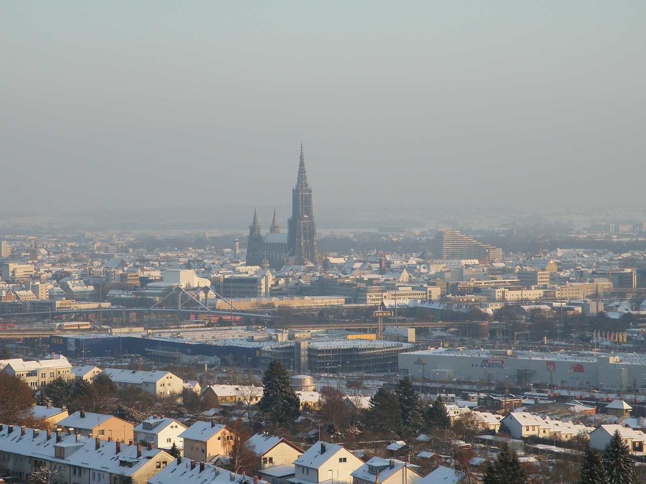 münster ulm winter free photo