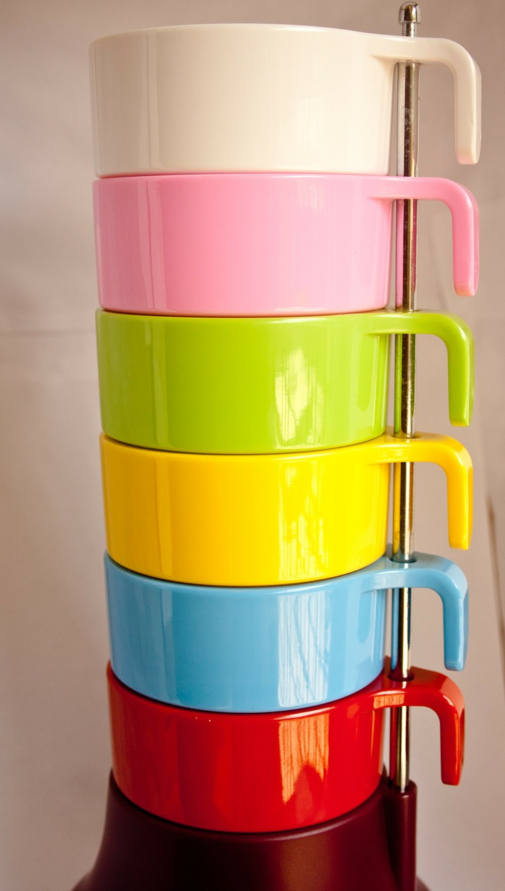 mugs plastic colourful free photo