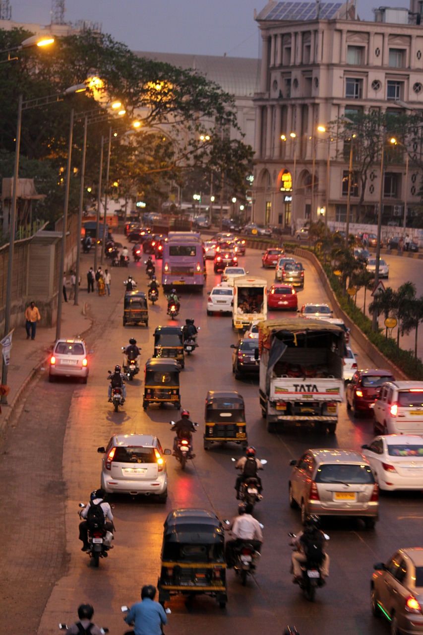 mumbai street city free picture
