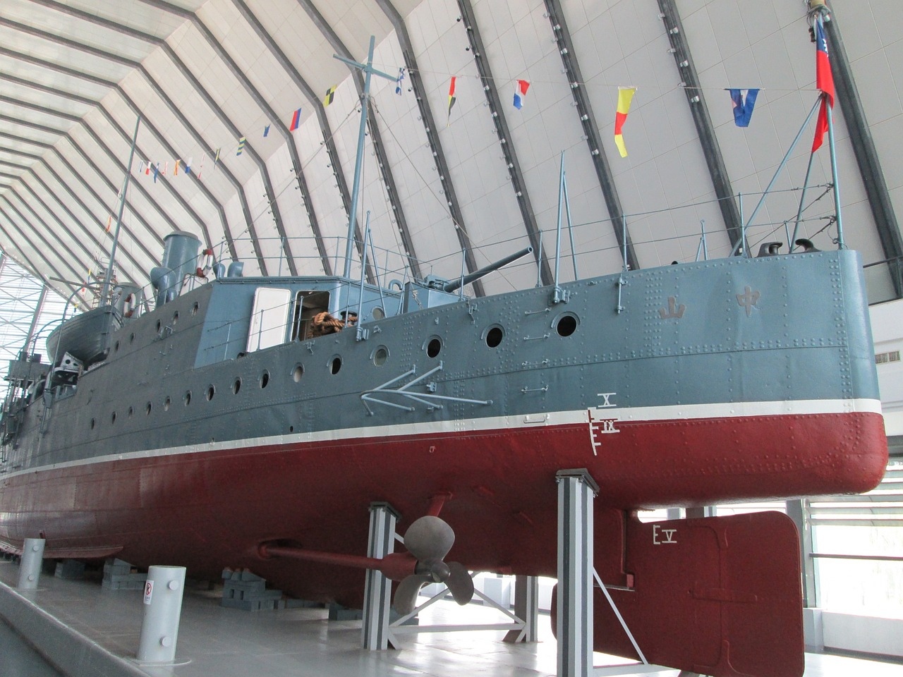 museum the zhong shan gunboat warships free photo