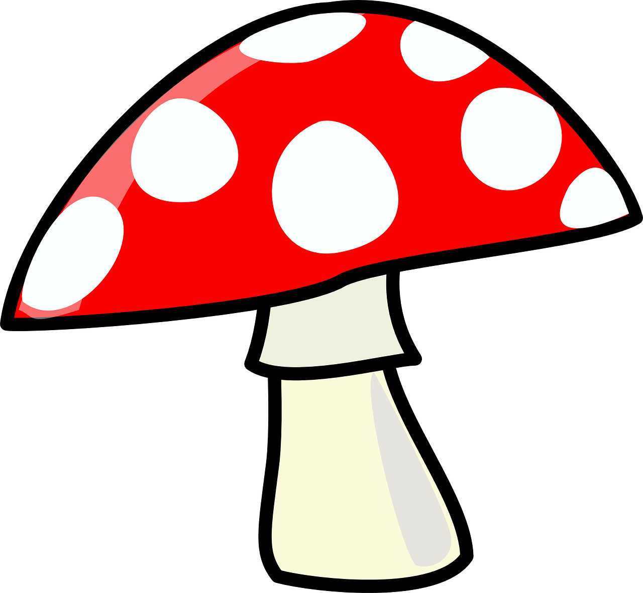 mushroom red cartoons free photo