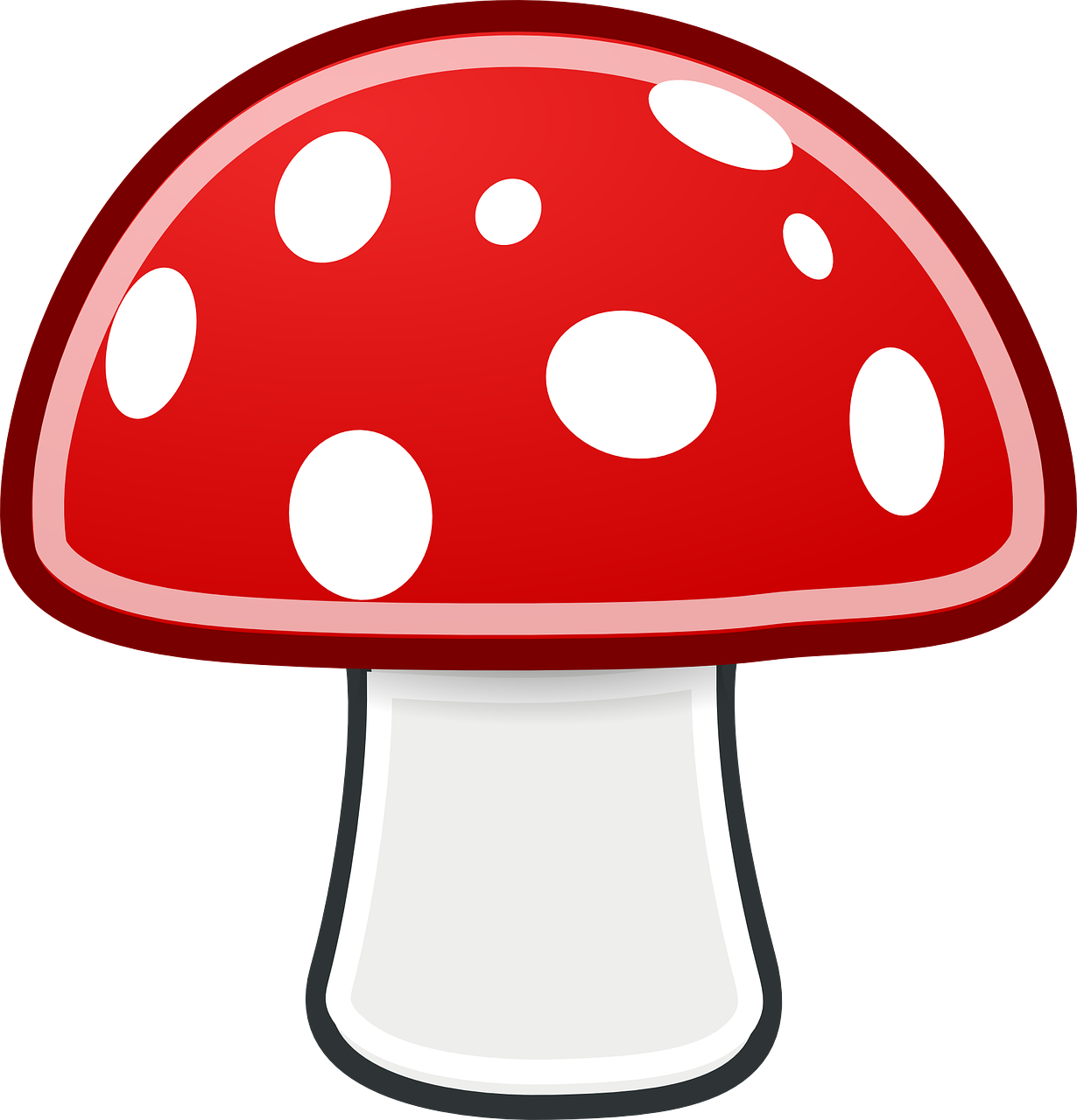 mushroom,red,white,spots,fungus,free vector graphics,free pictures, free photos, free images, royalty free, free illustrations, public domain