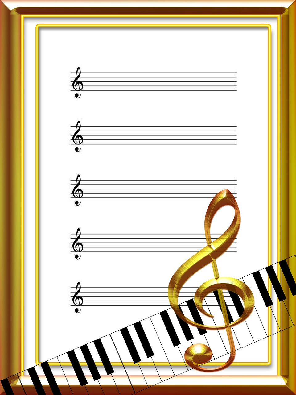 music sheet music acoustics free photo