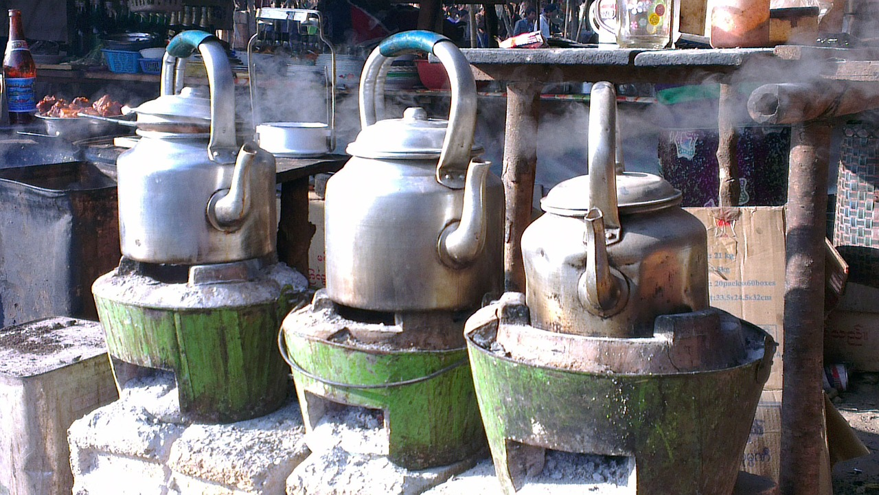 myanmar kettles stoves free photo