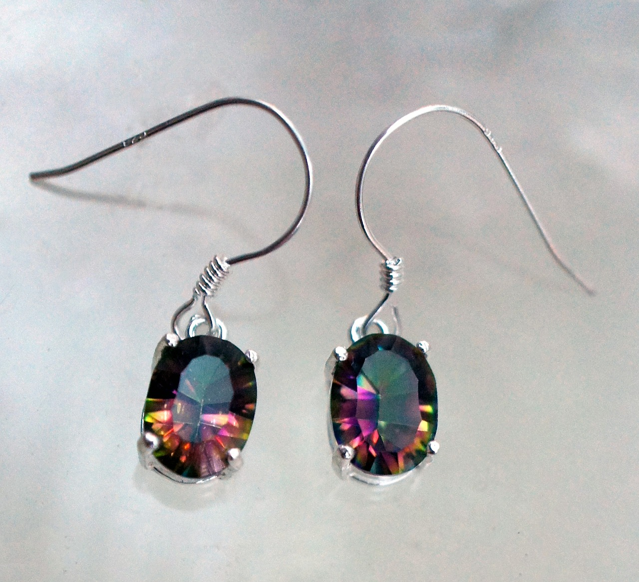 mystic topaz earrings free photo