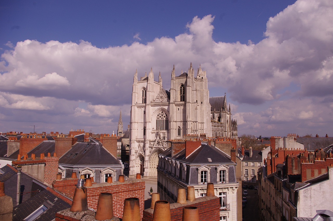nantes cathedral roofs free photo