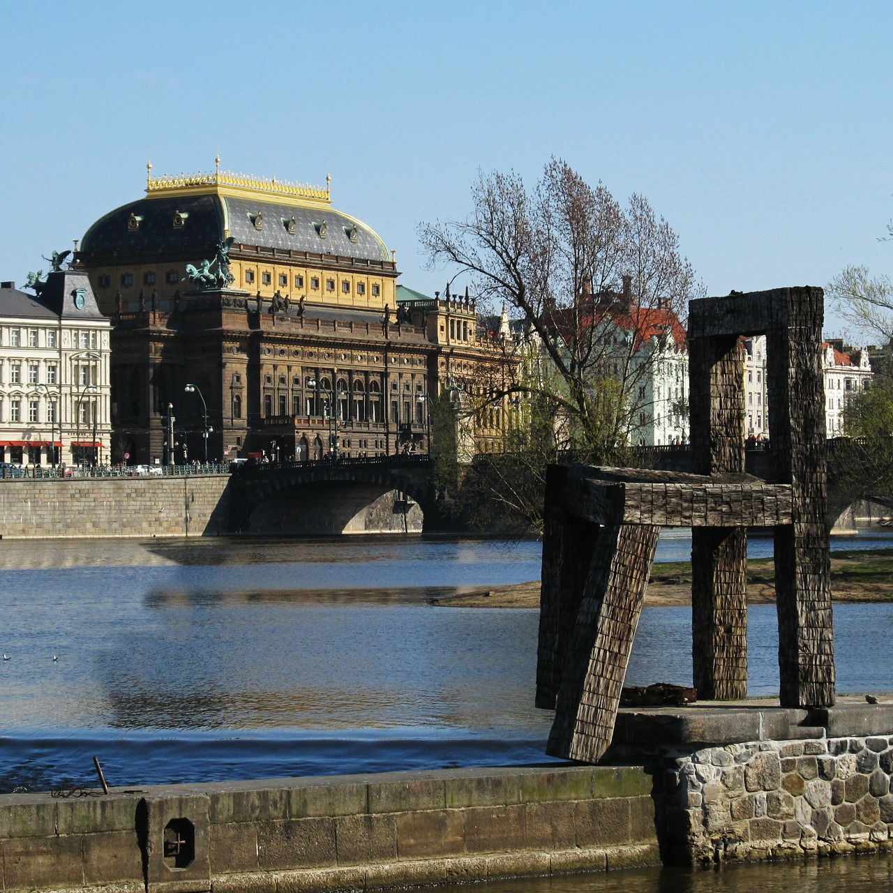 national theatre theater vltava free photo