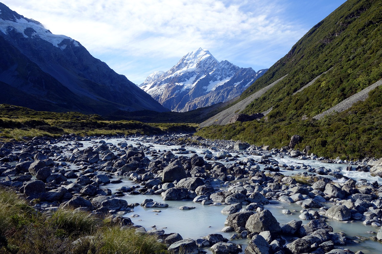 nature new zealand mt cook free photo