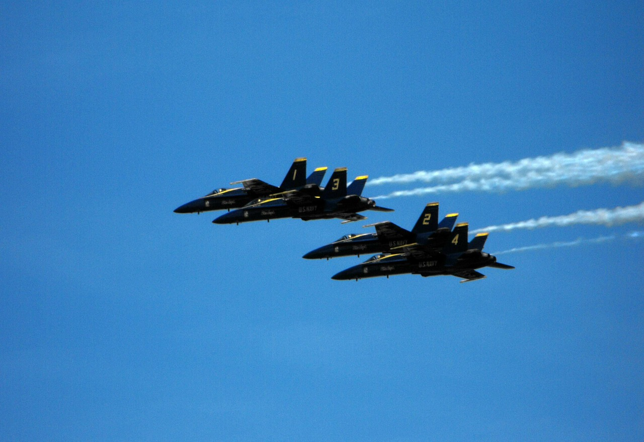 navy blue angels jets free photo