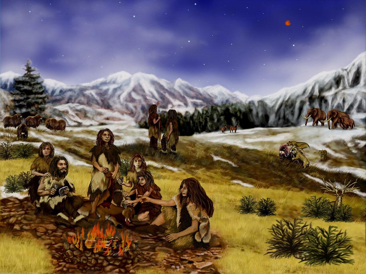 neanderthals prehistoric mountains free photo
