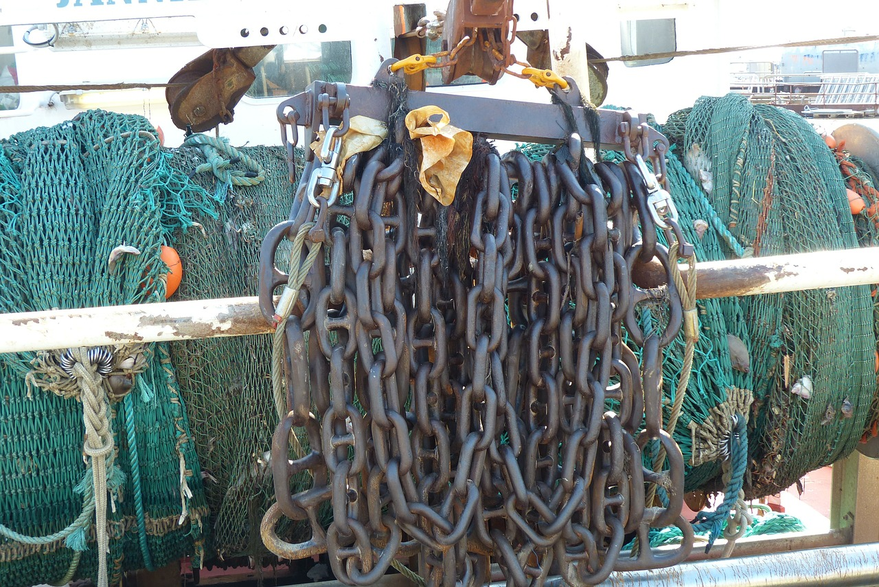 necklace fishing boat anchor chain free photo