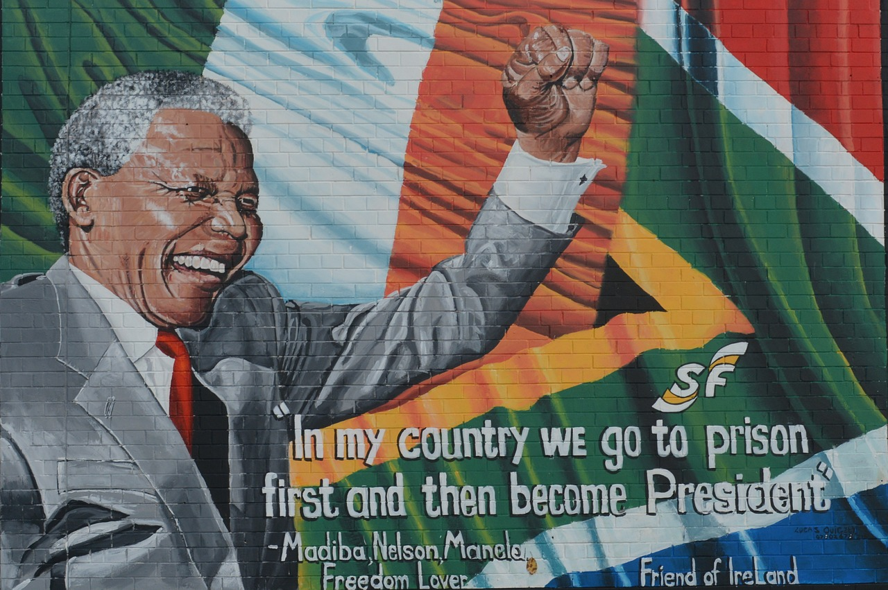 nelson mandela quote mural free photo