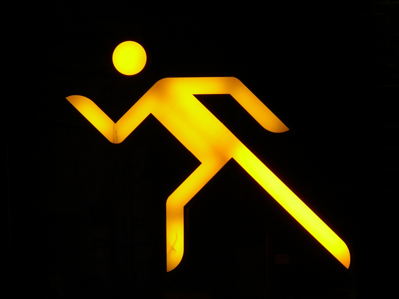 neon sign man males free photo