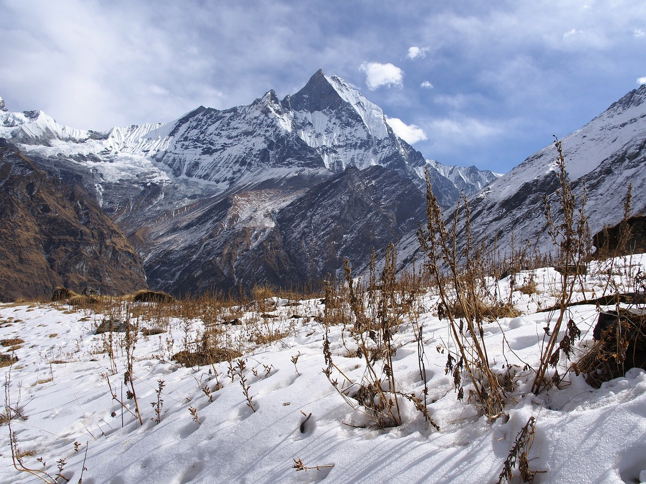 nepal basecamp himalayas free photo