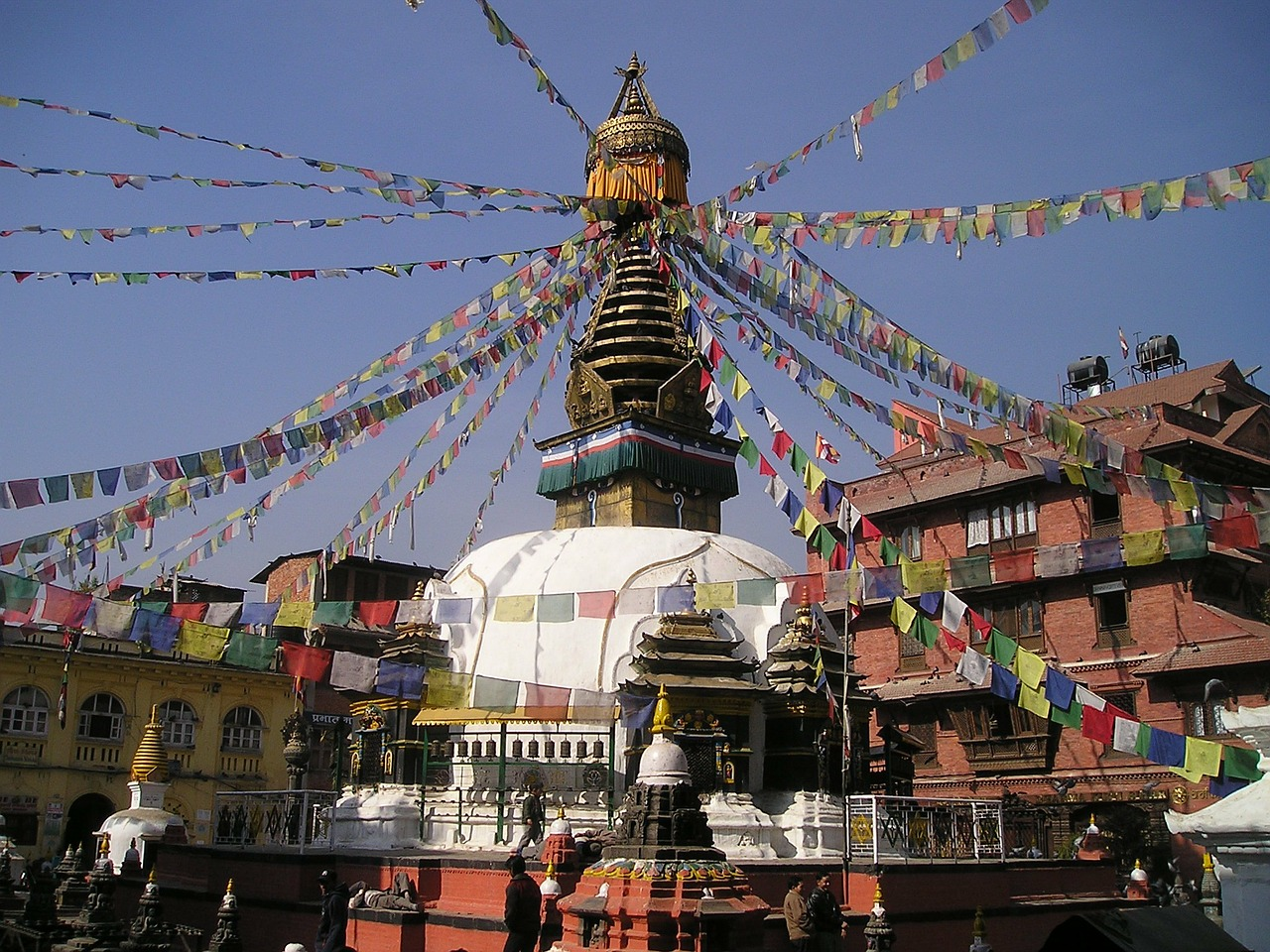 nepal,stupa,holy,prayer flags,buddhism,free pictures, free photos, free images, royalty free, free illustrations, public domain