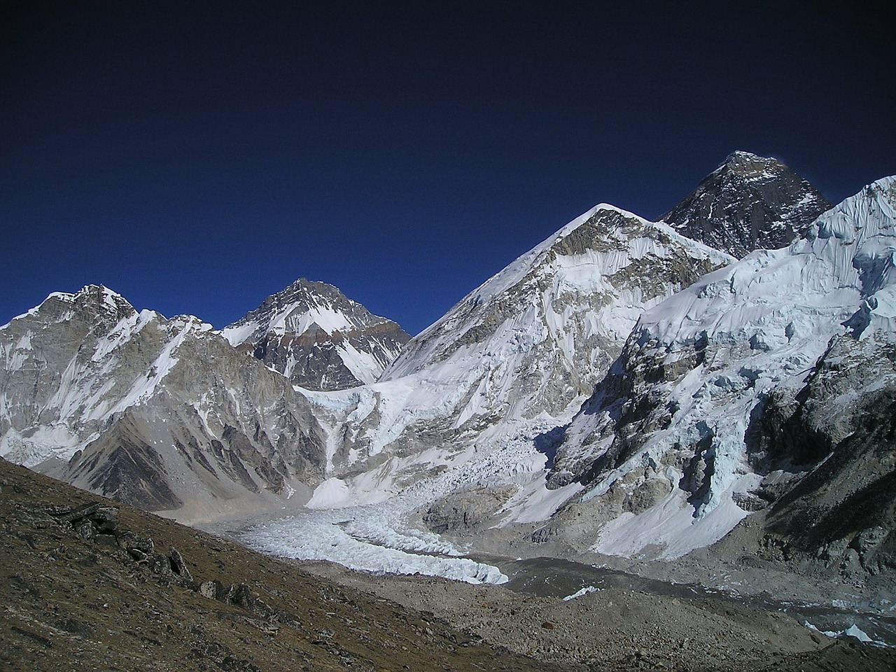 nepal,himalayas,mountain,everest,mountains,western,cwm,free pictures, free photos, free images, royalty free, free illustrations, public domain