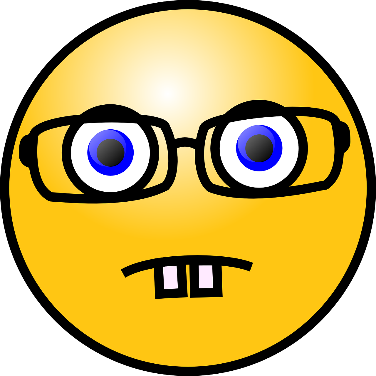 nerd,emoticon,eyeglasses,smart,expression,eyesight,eyewear,impairment,vision,optician,scientist,free vector graphics,free pictures, free photos, free images, royalty free, free illustrations, public domain
