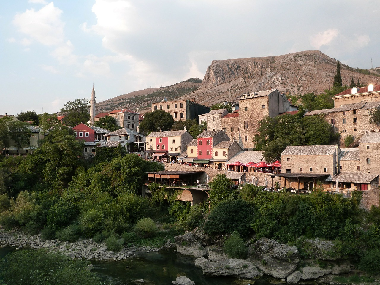 neretva river old town architecture free photo