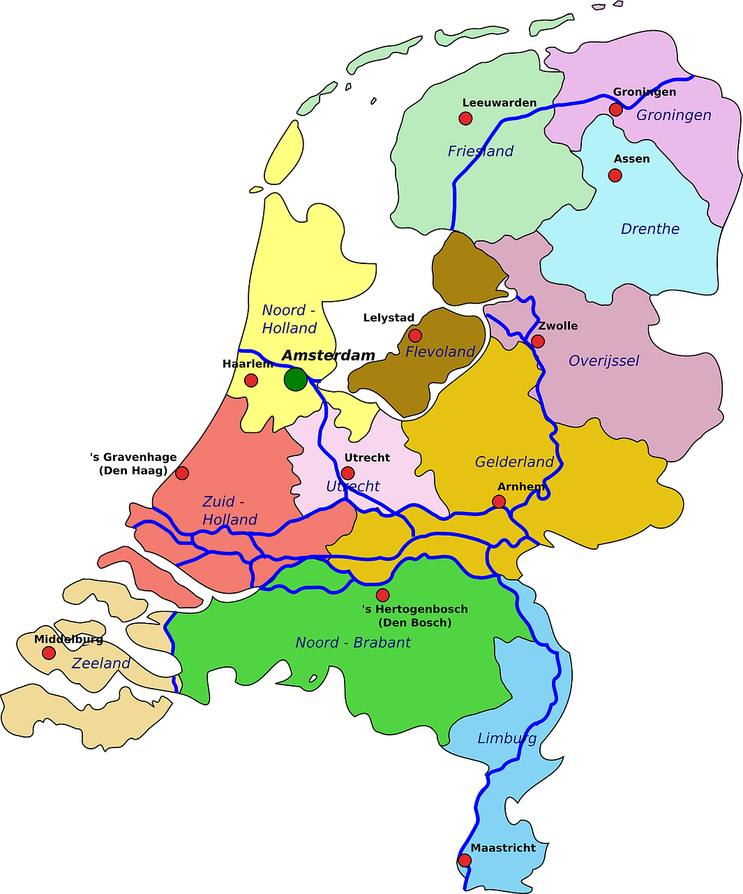 netherlands map geography free photo