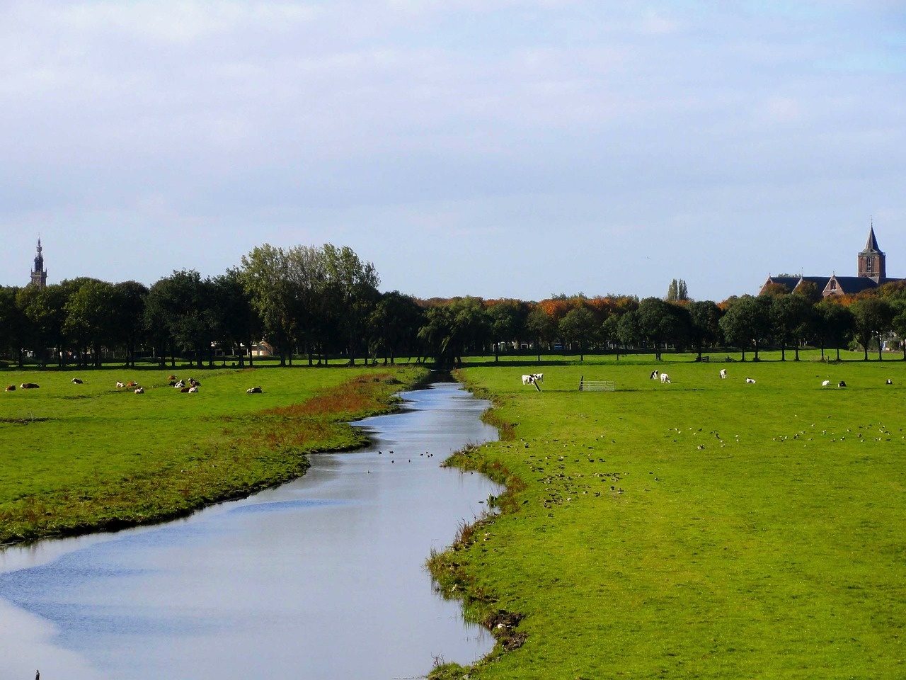 netherlands landscape stream free photo